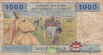 1000 francs banknote Central African CFA