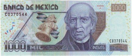 1000 Mexican Pesos banknote (Series D)