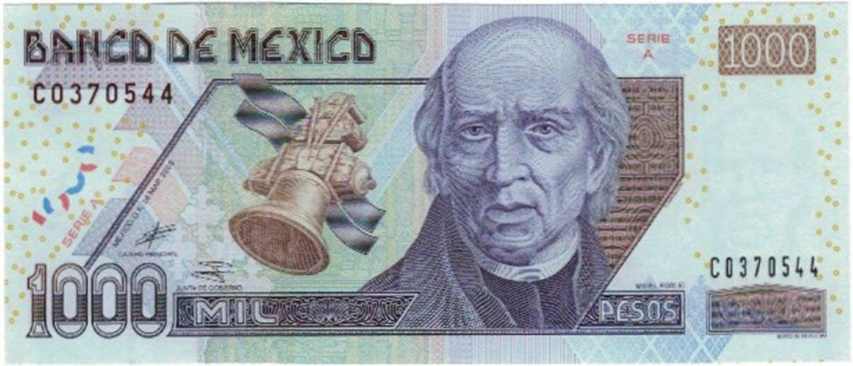 1000 Mexican Pesos Banknote Series D