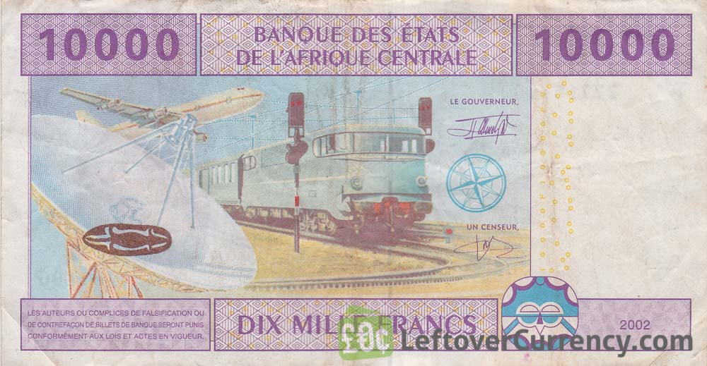 10000 francs banknote Central African CFA
