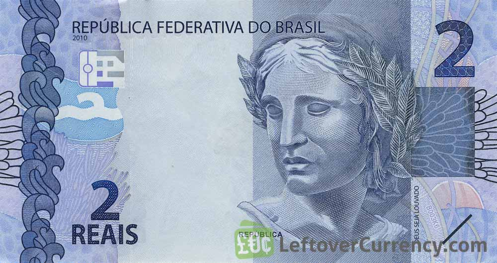 2 Brazilian Reais banknote (2010 issue)