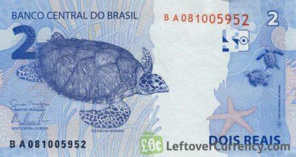 2 Brazilian Reais banknote (2010 issue)