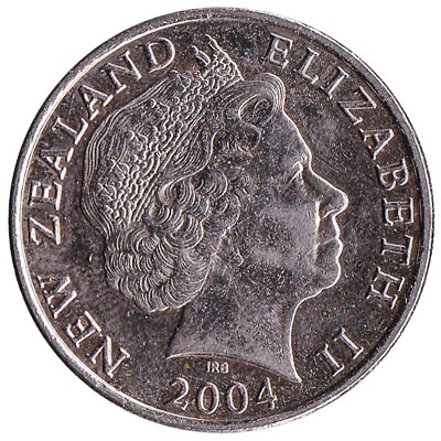 20 cent coin New Zealand large type reverse