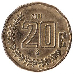20 Centavos coin Mexico (Large type)