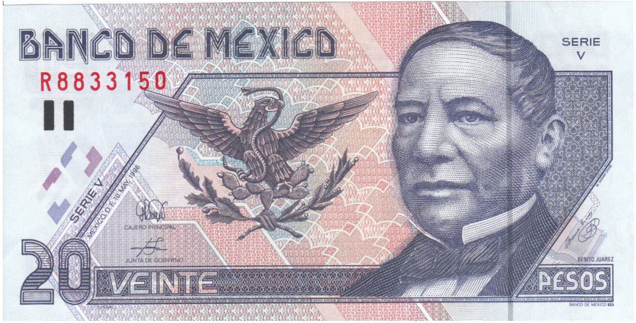 20 Mexican Pesos banknote (Series D)