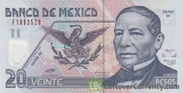 20 Mexican Pesos banknote (Series D polymer)