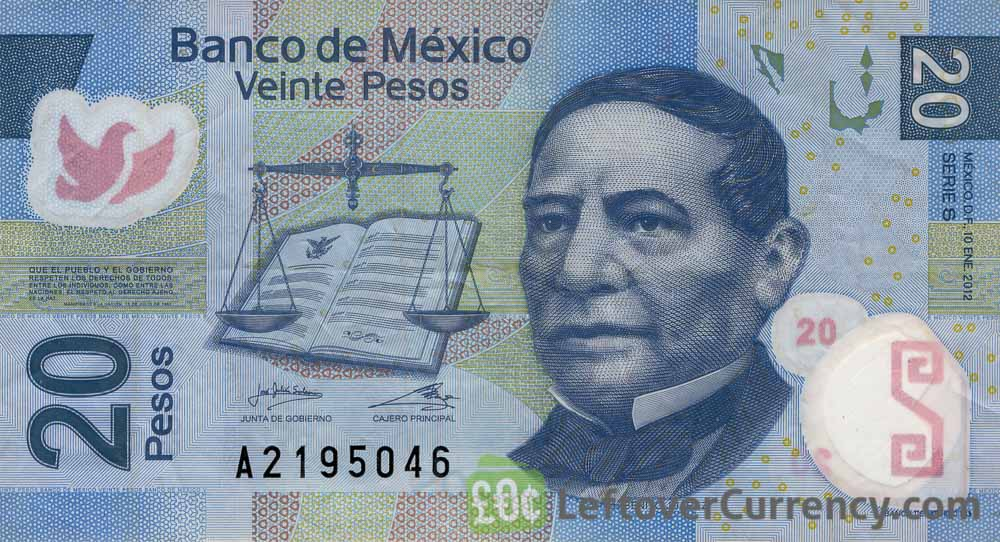 20 Mexican Pesos banknote (Series F)