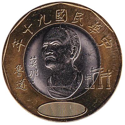 20 New Taiwan Dollars coin