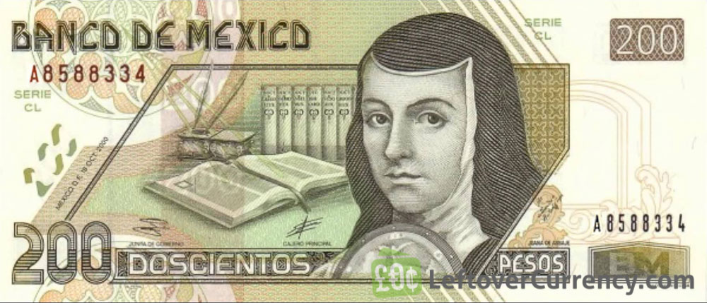 200 Mexican Pesos Banknote Series D