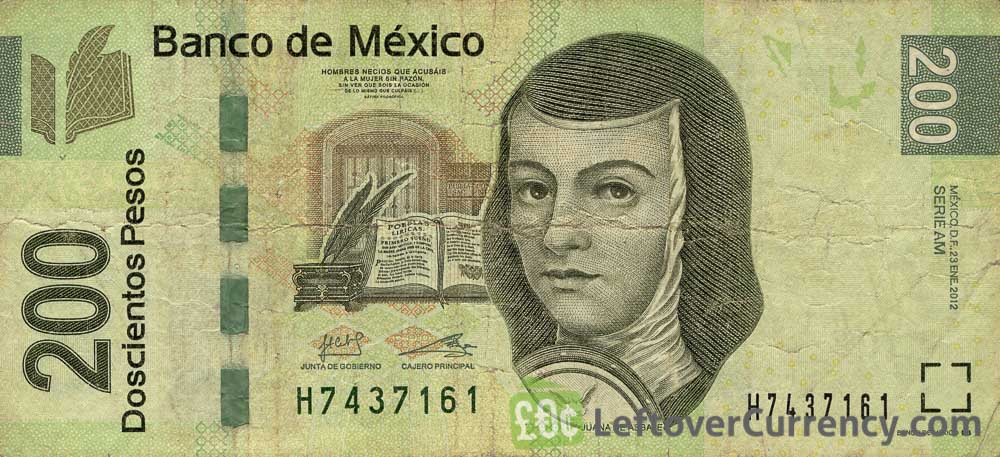 200 Mexican Pesos banknote (Series F)