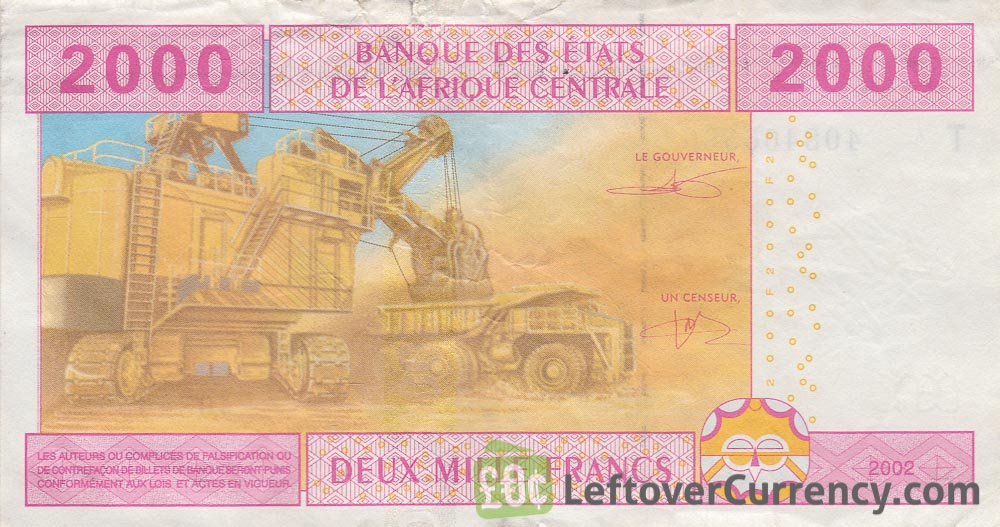2000 francs banknote Central African CFA