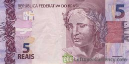 5 Brazilian Reais banknote (2010 issue)