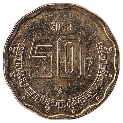 50 Centavos coin Mexico (Large type)