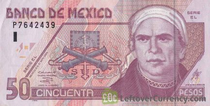 50 Mexican Pesos banknote (Series D)