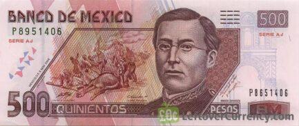 500 Mexican Pesos banknote (Series D)