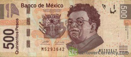 500 Mexican Pesos banknote (Series F)
