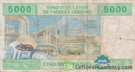 5000 francs banknote Central African CFA