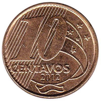 Brazil 10 Centavos coin