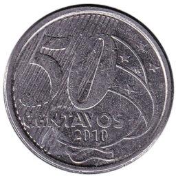 Brazil 50 Centavos coin