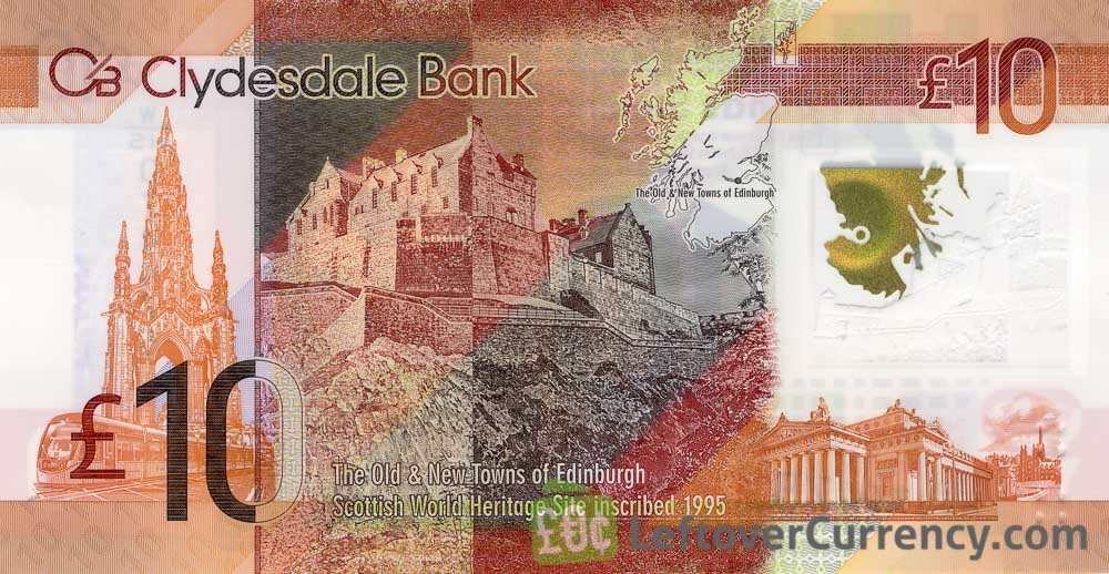 Clydesdale Bank 10 Pounds banknote (2017 series)