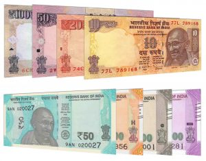 current Indian rupee banknotes accepted for exchange