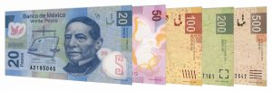 current Mexican Peso banknotes