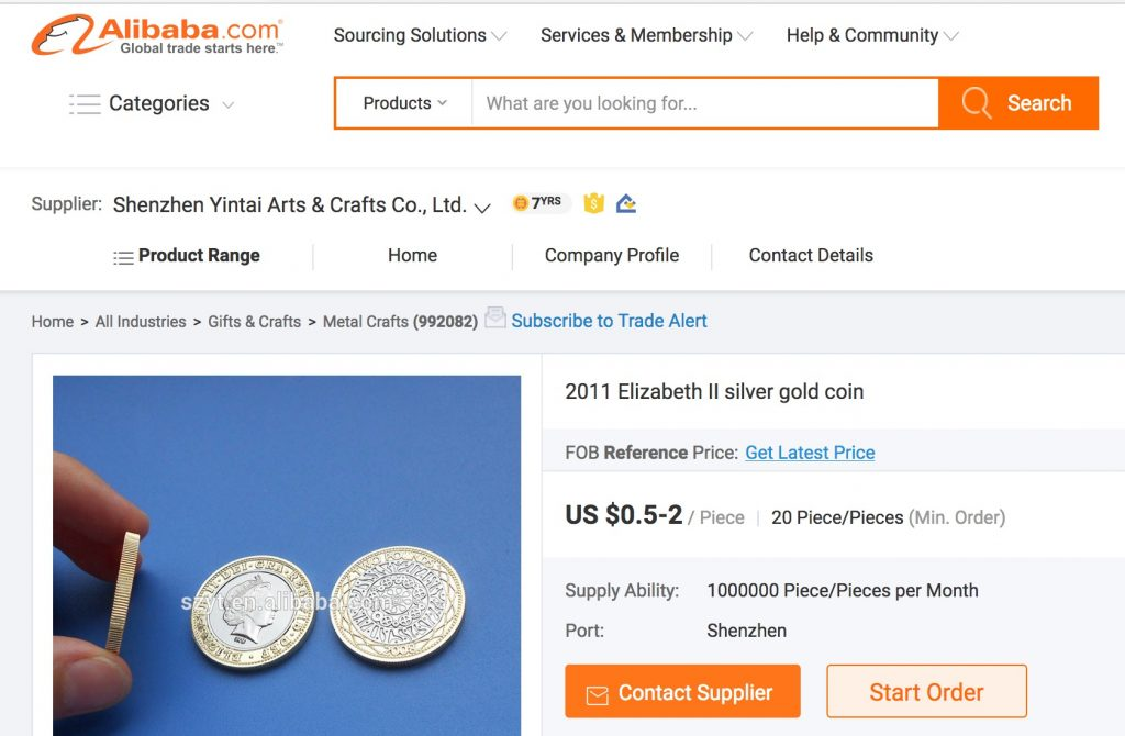 fake £2 pound coins on Alibaba.com