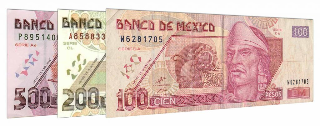 withdrawn Mexican Peso Series D banknotes