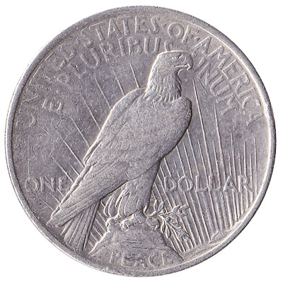 United States Peace silver dollar coin