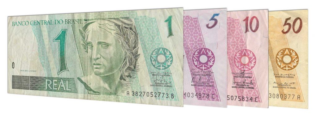withdrawn Brazilian Real banknotes