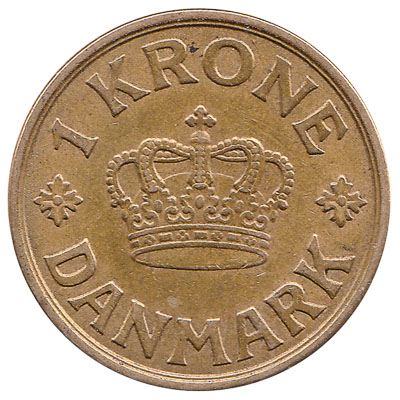 1 Danish Krone coin Christian X