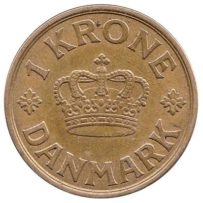 1 Danish Krone coin Christian X
