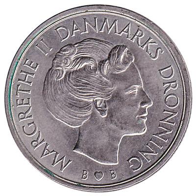 1 Danish Krone coin Margrethe II