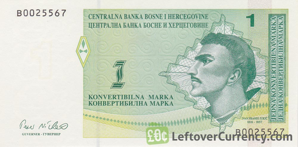 1 Konvertible Mark banknote