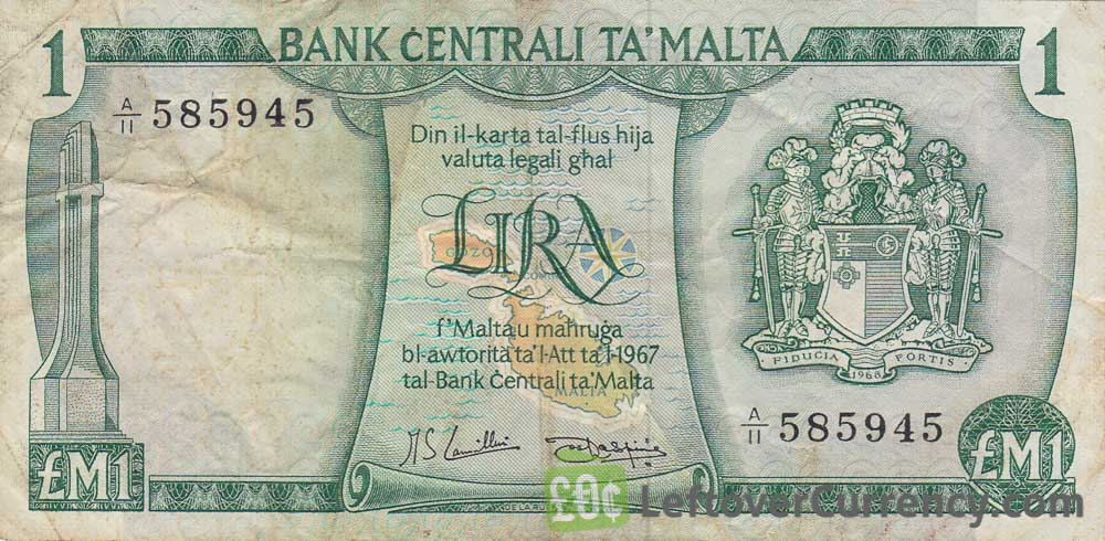1 Maltese Lira banknote (2nd Series)