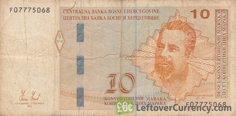 10 Konvertible Marks banknote Bosnian-Croatian (holographic thread)