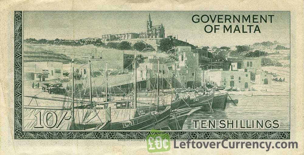 10 Shillings banknote (Government of Malta)