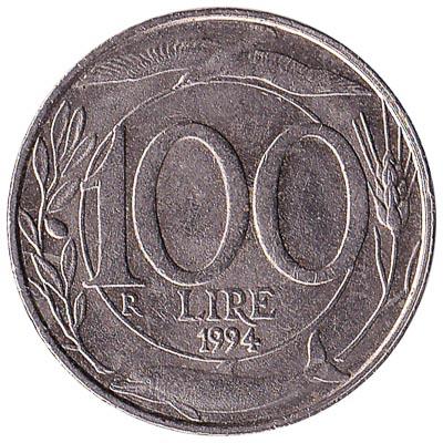 100 Italian Lire coin