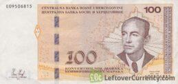 100 Konvertible Marks banknote Bosnian-Croatian (holographic thread)