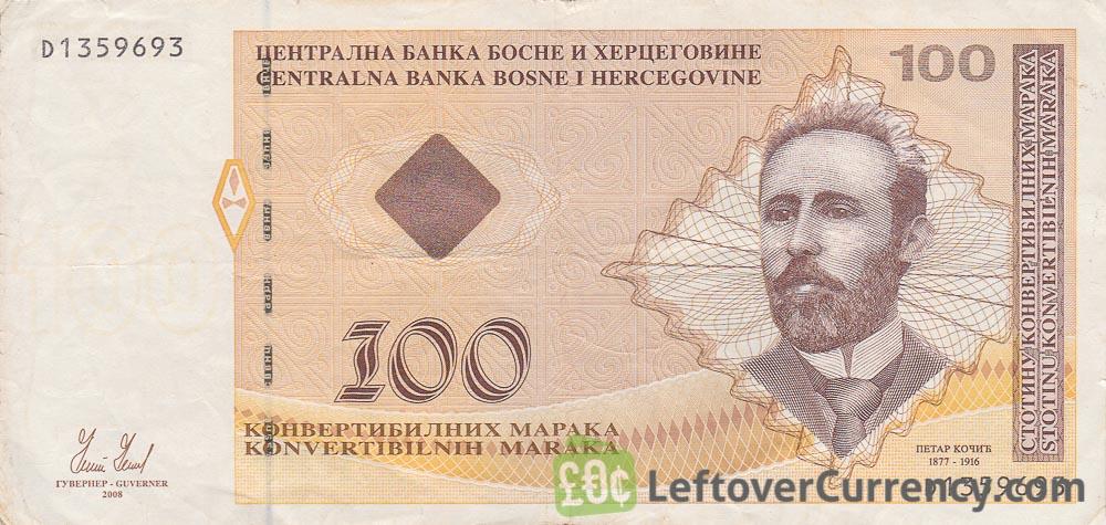 100 Konvertible Marks banknote Republika Srpska (2007-2008 version)