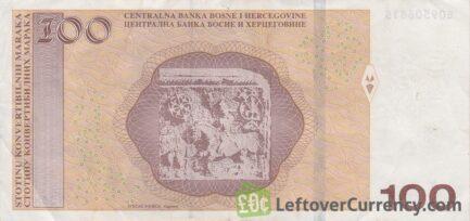 100 Konvertible Marks banknote Republika Srpska (holographic thread)