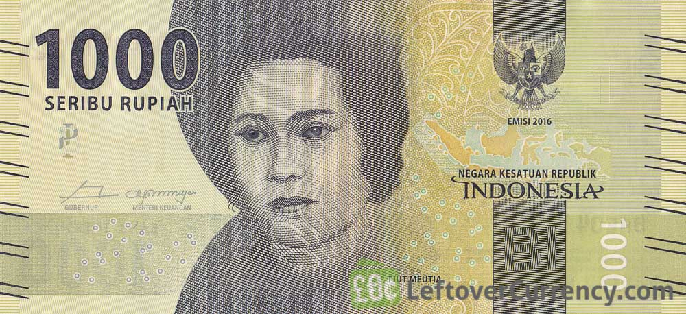 1000 Indonesian Rupiah banknote (2016 issue)