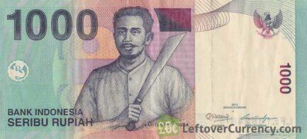 1000 Indonesian Rupiah banknote (Captain Pattimura)