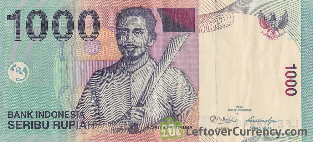 1000 Indonesian Rupiah Note Captain Pattimura Exchange Yours Today