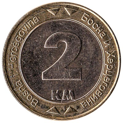 2 Marka Bosnian Convertible Mark coin
