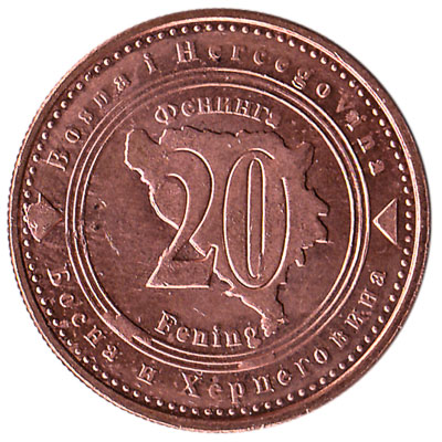 20 Feninga Bosnian Convertible Mark coin