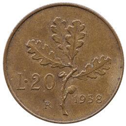 20 Italian Lire coin