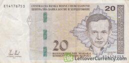 20 Konvertible Marks banknote Bosnian-Croatian (holographic thread)