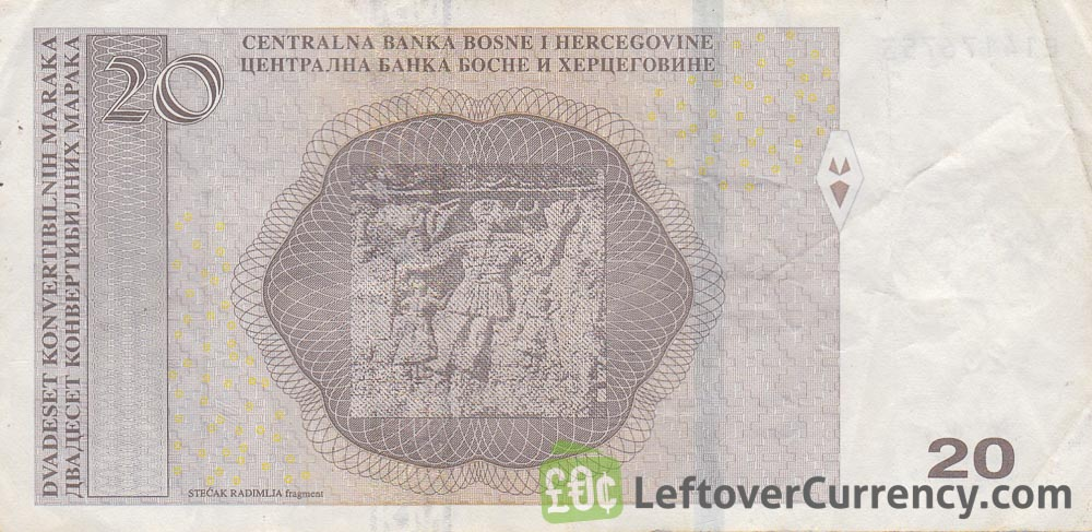 20 Konvertible Marks banknote Bosnian-Croatian (holographic thread)