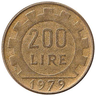 200 Italian Lire coin